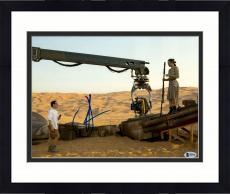 "Framed J.J. Abrams Autographed 11"" x 14"" With Daisy Ridley Star Wars The Force Awakens Photograph Beckett COA"