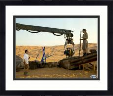 "Framed J.J. Abrams Autographed 11"" x 14"" With Daisy Ridley Star Wars The Force Awakens Photograph Beckett COA"