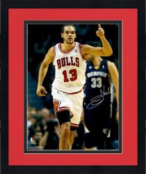 "Framed Joakim Noah Chicago Bulls Autographed 16"" x 20"" Raising Finger Photograph"
