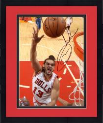 "Framed Joakim Noah Chicago Bulls Autographed 8"" x 10"" Hook Shot Photograph"