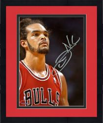 "Framed Joakim Noah Chicago Bulls Autographed 8"" x 10"" Up Close Photograph"