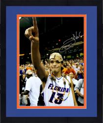 "Framed Joakim Noah Florida Gators Autographed 16"" x 20"" Championship Hat Photograph"
