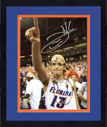 "Framed Joakim Noah Florida Gators Autographed 8"" x 10"" Championship Hat Photograph"
