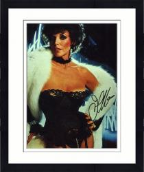 Framed Joan Collins Autographed 8'' x 10'' Black Lace Photo