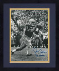 "Framed Joe Bellino Navy Midshipmen Autographed 8"" x 10"" Photograph with ""60 Heisman"" Inscription - Mounted Memories"