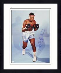 "Framed Joe Frazier Autographed 16"" x 20"" Stance Photograph"