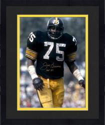 "Framed Joe Greene Pittsburgh Steelers Autographed 16"" x 20"" Close Up Photograph with HOF 87 Inscription"