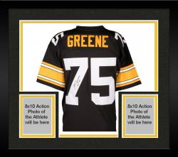 Framed Joe Greene Pittsburgh Steelers Autographed Pro Line Black jersey with HOF 87 Inscription
