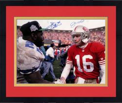 Framed Joe Montana and Emmit Smith Autographed 16'' x 20'' Photo