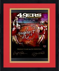 "Framed Joe Montana & Dwight Clark San Francisco 49ers Autographed 20"" x 24"" In Focus ""The Catch"" Photograph"