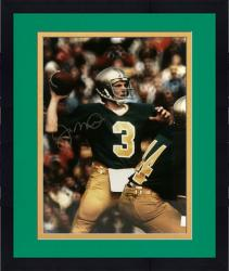 "Framed Joe Montana Notre Dame Fighting Irish Autographed 16"" x 20"" Throw Photograph"