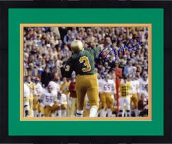 Framed Joe Montana Notre Dame Fighting Irish Autographed 8'' x 10'' Back Shot Photograph