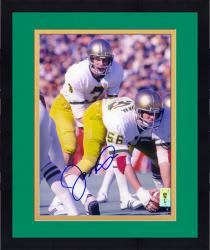 "Framed Joe Montana Notre Dame Fighting Irish Autographed 8"" x 10"" Under Center Photograph"