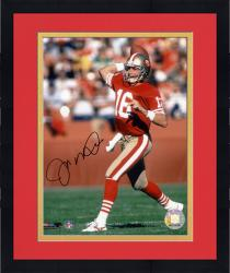 Framed Joe Montana San Francisco 49ers Autographed 8'' x 10'' Ball Behind Head Photograph