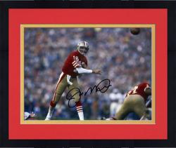 "Framed Joe Montana San Francisco 49ers Autographed 8"" x 10"" Forward Pass Photograph"