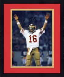 "Framed Joe Montana San Francisco 49ers Super Bowl XIX Autographed 8"" x 10"" Arms Up Photograph"