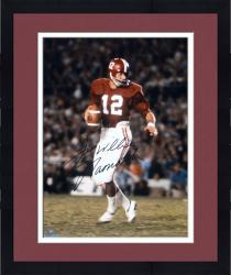 Framed Joe Namath Alabama Crimson Tide Autographed 16'' x 20'' Crimson Uniform with Ball Photograph