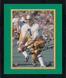 """Framed Joe Theismann Notre Dame Fighting Irish Autographed 8"""" x 10"""" Photograph with Play Like A Champion"""