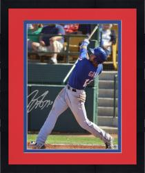 Framed Joey Gallo Texas Rangers Autographed 8'' x 10'' Back Swing Photograph