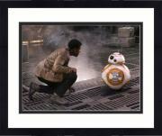 "Framed John Boyega & Brian Herring Star Wars The Force Awakens Autographed 16"" x 20"" Finn & BB-8 Photograph - Topps Authentic"