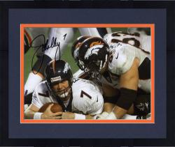 "Framed John Elway Denver Broncos Autographed 8"" x 10"" vs Atlanta Falcons Photograph"