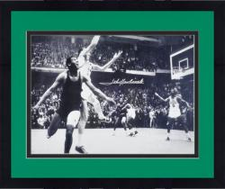 "Framed John Havlicek Boston Celtics Autographed 16"" x 20"" Jumping Photograph"