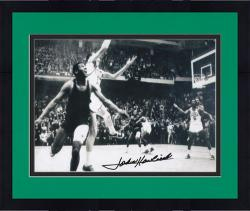 "Framed John Havlicek Boston Celtics Autographed 8"" x 10"" Steal Photograph"