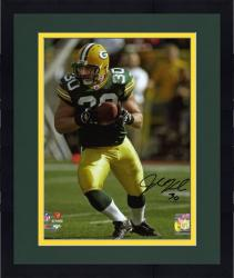 """Framed John Kuhn Green Bay Packers Autographed 8"""" x 10"""" Action Photograph"""