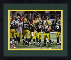 Framed John Kuhn Green Bay Packers Super Bowl XLV Champions Autographed 8'' x 10'' Photograph