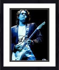 "Framed John Mayer Autographed 11"" x 14"" Playing The White Guitar Photograph - Beckett COA"