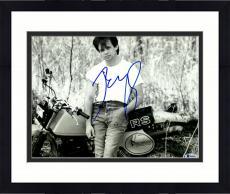 "Framed John Mellencamp Autographed 11"" x 14"" Leaning On Motorcycle Photograph - Beckett COA"