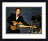 """Framed John Mellencamp Autographed 11"""" x 14"""" Singing And Playing The Guitar  Photograph - Beckett COA"""