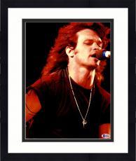 "Framed John Mellencamp Autographed 11"" x 14"" Singing Into Microphone Photograph - Beckett COA"