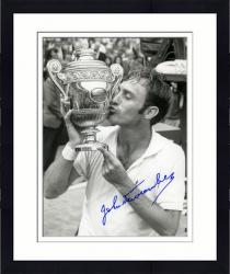 "Framed John Newcombe Autographed 8"" x 10"" Kissing Trophy Photograph"