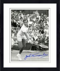 "Framed John Newcombe Autographed 8"" x 10"" Lunging Photograph"