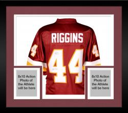 Framed John Riggins Washington Redskins Autographed Pro Line Burgundy Jersey with HOF 92 Inscription