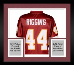 Framed John Riggins Washington Redskins Autographed Pro Line Burgundy Jersey with SB XVII MVP Inscription