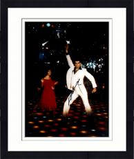 Framed John Travolta Autographed 11'' x 14'' Hand Up Photograph