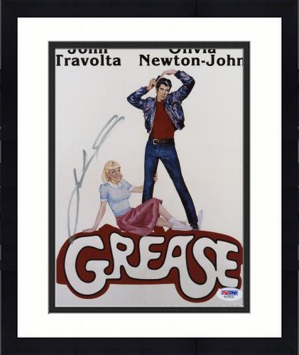 "Framed John Travolta Autographed 8"" x 10"" Grease Photograph - PSA/DNA"