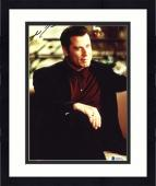 "Framed John Travolta Autographed 8""x 10"" Get Shorty Sitting in Chair Photograph - Beckett COA"