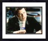 """Framed John Travolta Autographed 8""""x 10"""" Pulp Fiction Smoking Photograph - Beckett COA"""