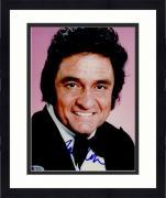 "Framed Johnny Cash Autographed 8""x 10"" Wearing Black Suit Photograph - BAS COA"