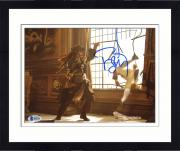 "Framed Johnny Depp Autographed 8"" x 10"" Pirates of The Caribbean Jack Sparrow Fighting Photograph - Beckett COA"
