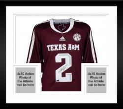 Framed Johnny Manziel Texas A&M Aggies Autographed Maroon Jersey