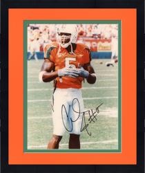 Framed Andre Johnson Autographed Miami Hurricanes 8x10 Photo