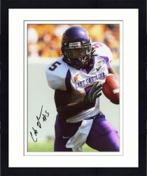 Framed JOHNSON, CHRIS AUTO (ECU/FRONT VIEW/RUNNING/BALL) 8X10 PHOTO - Mounted Memories