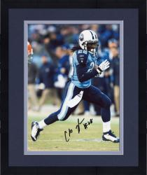 Framed JOHNSON, CHRIS AUTO (TITANS/VS BROWNS/RUNNING/BALL) 8x10 - Mounted Memories