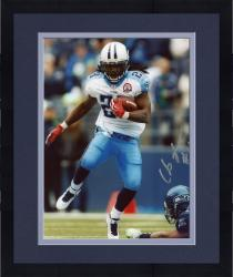 Framed JOHNSON, CHRIS AUTO (TITANS/VS SEAHAWKS/RUNNING/BALL) 8x10 - Mounted Memories