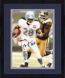 Framed JOHNSON, CHRIS AUTO (TITANS/VS STEELERS/T/B JERSEY) 8x10 - Mounted Memories