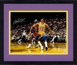 Framed Magic Johnson Autographed Lakers 16x20 Photo